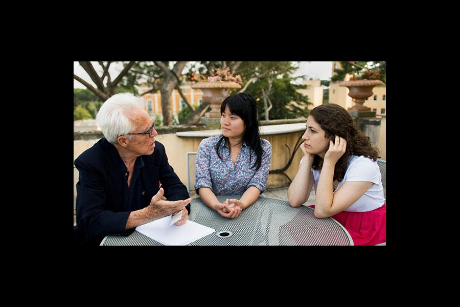 John Guare, Oscar nominated screen writer and Tony Award winning playwright, mentors 2010 YoungArts Winners