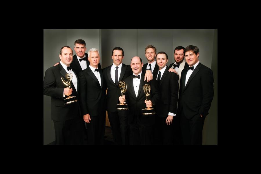 Matthew Weiner and the men of Mad Men