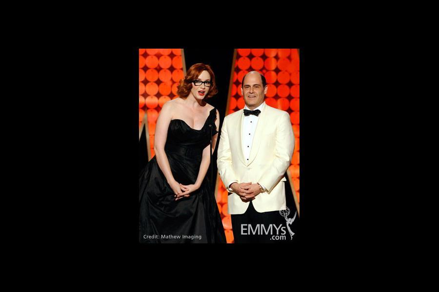 Christina Hendricks and Matthew Weiner at the 62nd Primetime Creative Arts Emmy Awards