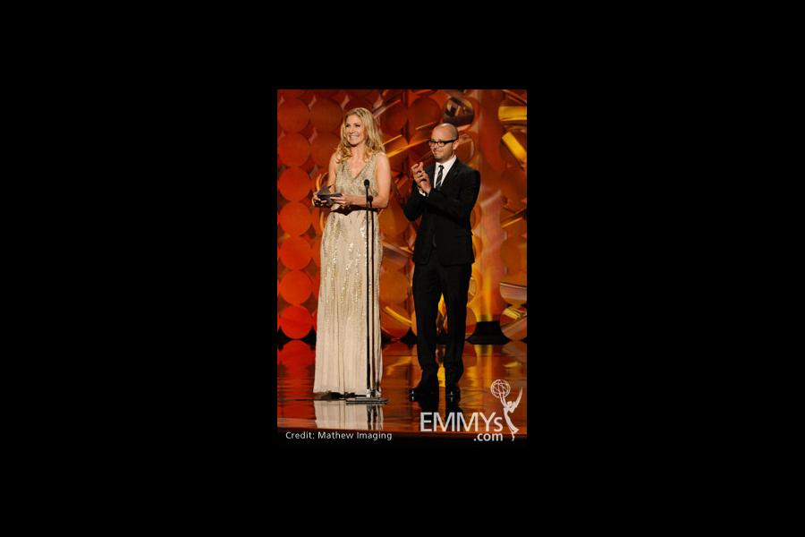 Presenters Elizabeth Mitchell and Damon Lindelof of Lost