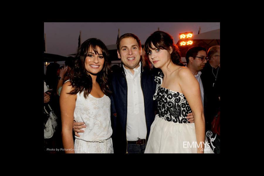 Zooey Deschanel Emmy 2013 Lea Michele  Jonah Hill  Zooey
