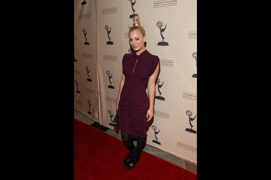 "Kaley Cuoco on the red carpet at ""An Evening with The Big Bang Theory"""