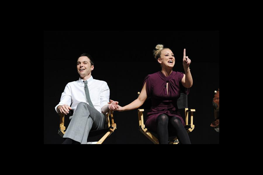 "Jim Parsons and Kaley Cuoco at ""An Evening With The Big Bang Theory"""