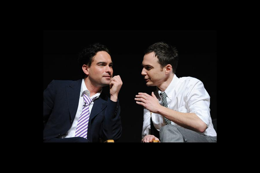"""Johnny Galecki and Jim Parsons at """"An Evening With The Big Bang Theory"""""""