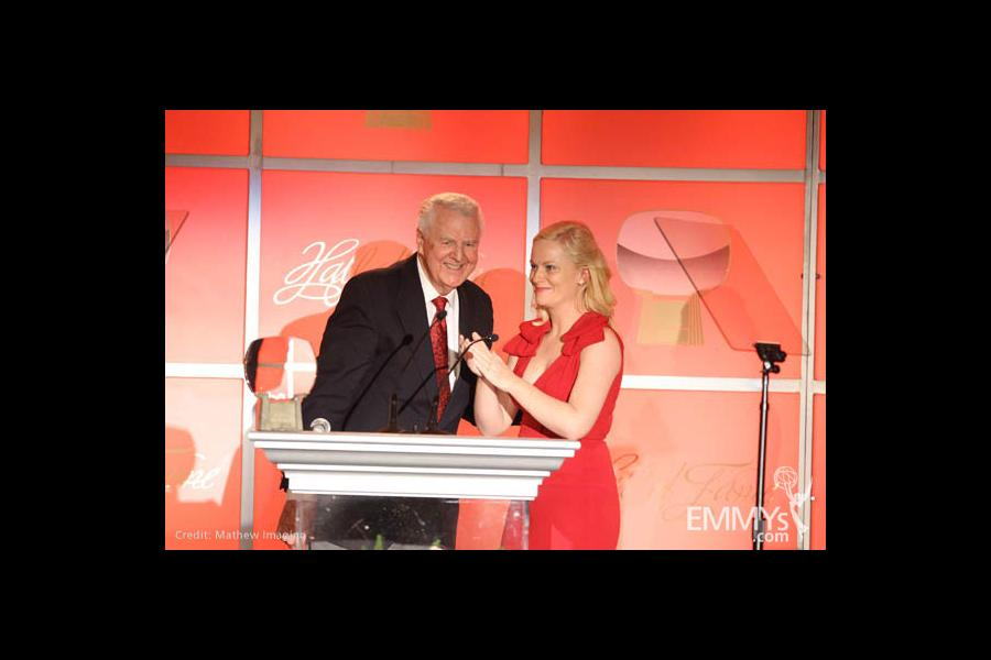 Don Pardo and Amy Poehler.