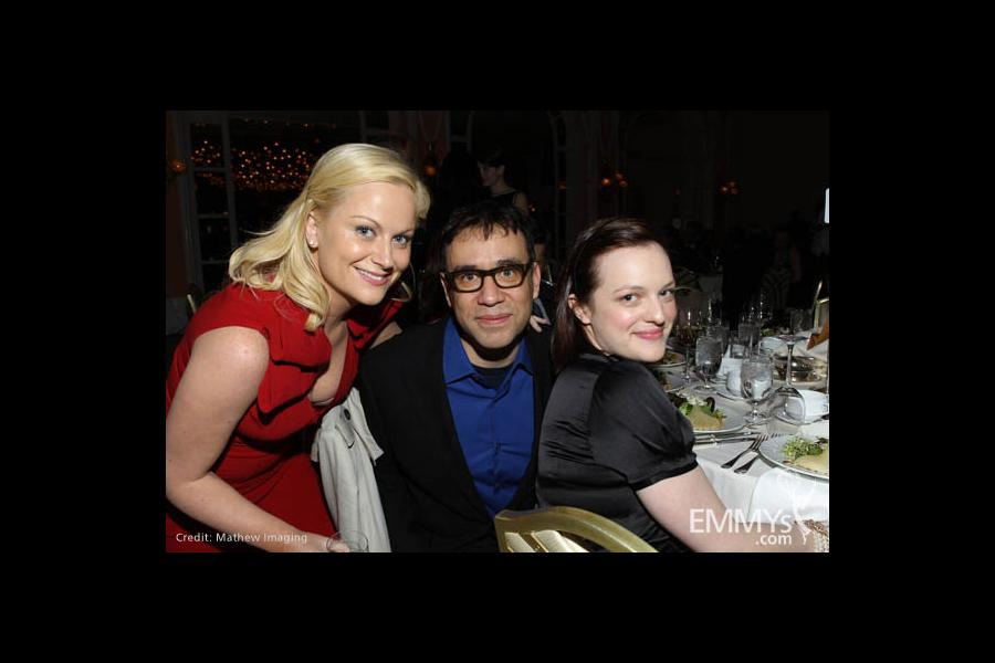 Amy Poehler, Fred Armisen and Elisabeth Moss.