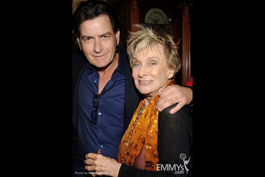 Charlie Sheen and Cloris Leachman attend the FOX Winter TCA All-Star Party