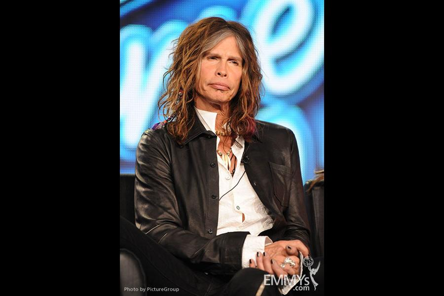 American Idol Judge Steven Tyler of rock band Aerosmith at the 2012 winter TCA conference.