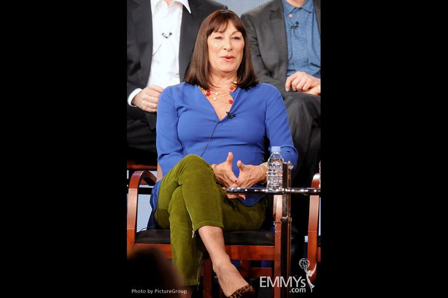 Anjelica Huston onstage during the Smash panel at the 2012 Winter TCA Tour