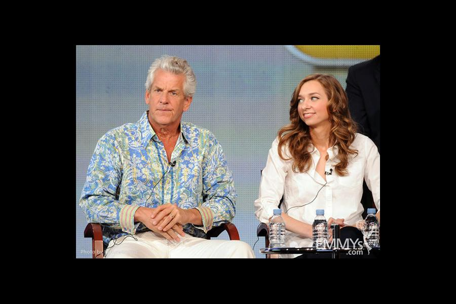 Lenny Clarke and Lauren Lapkus onstage during the Are You There, Chelsea? panel at the 2012 Winter TCA Tour