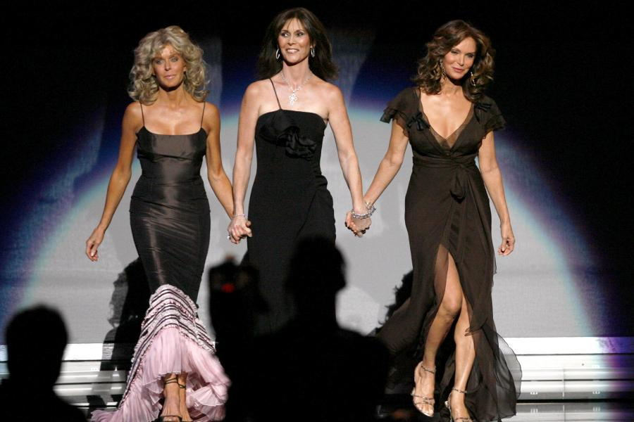 Farrah Fawcett, Kate Jackson & Jaclyn Smith at the 58th Primetime Emmy Awards