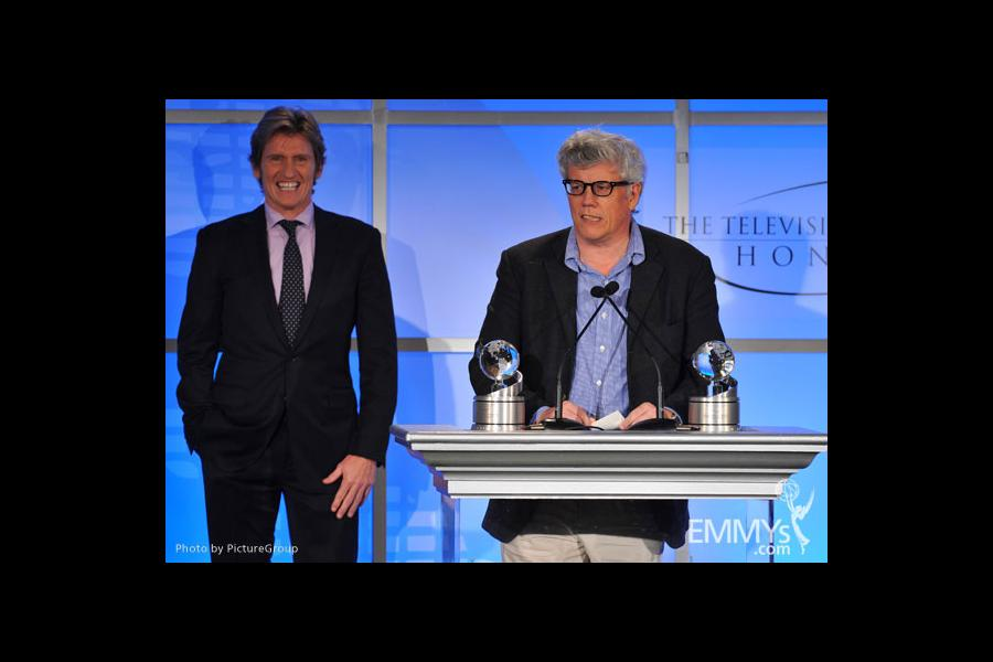 Denis Leary and Peter Tolan onstage at the 5th Annual Television Academy Honors