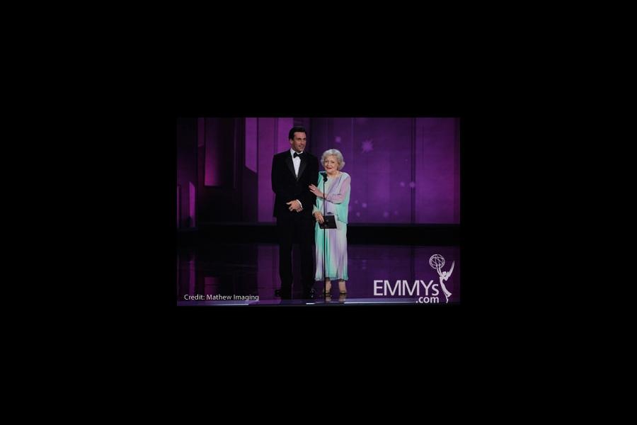 Jon Hamm & Betty White at the 62nd Primetime Emmy® Awards