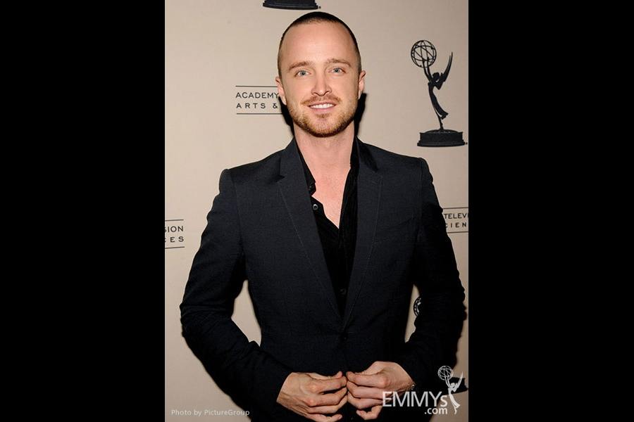 Aaron Paul arrives at an Evening with Breaking Bad