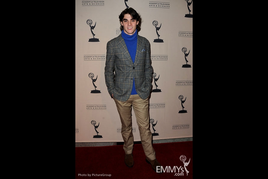 R.J. Mitte arrives at an Evening with Breaking Bad