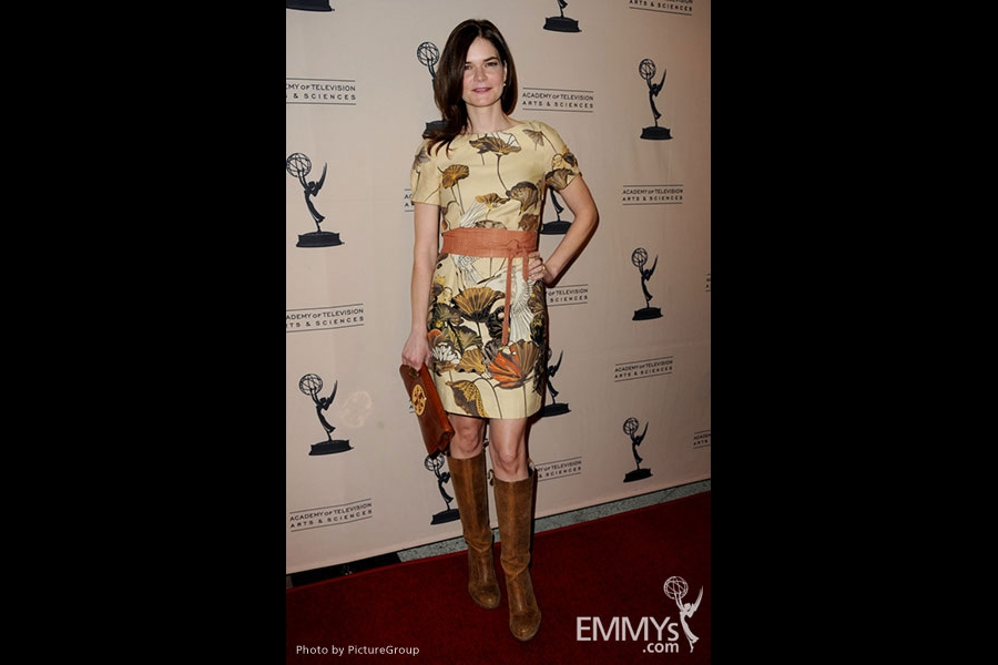 Betsy Brandt arrives at an Evening with Breaking Bad