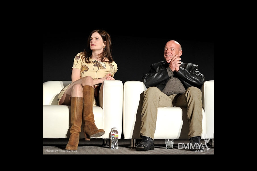 Betsy Brandt and Dean Norris participate in an Evening with Breaking Bad