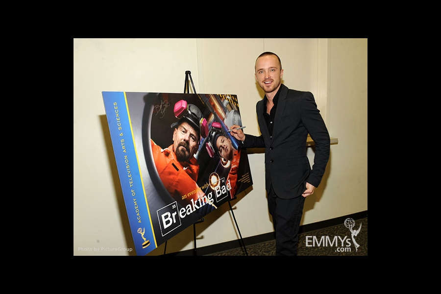 Aaron Paul attends the VIP reception at an Evening with Breaking Bad