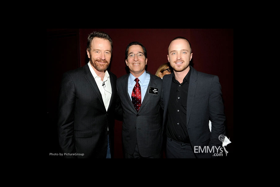 Bryan Cranston, Bruce Rosenblum and Aaron Paul attend an Evening with Breaking Bad