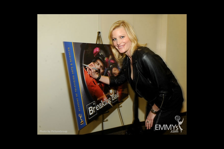 Anna Gunn attends the VIP reception at an Evening with Breaking Bad