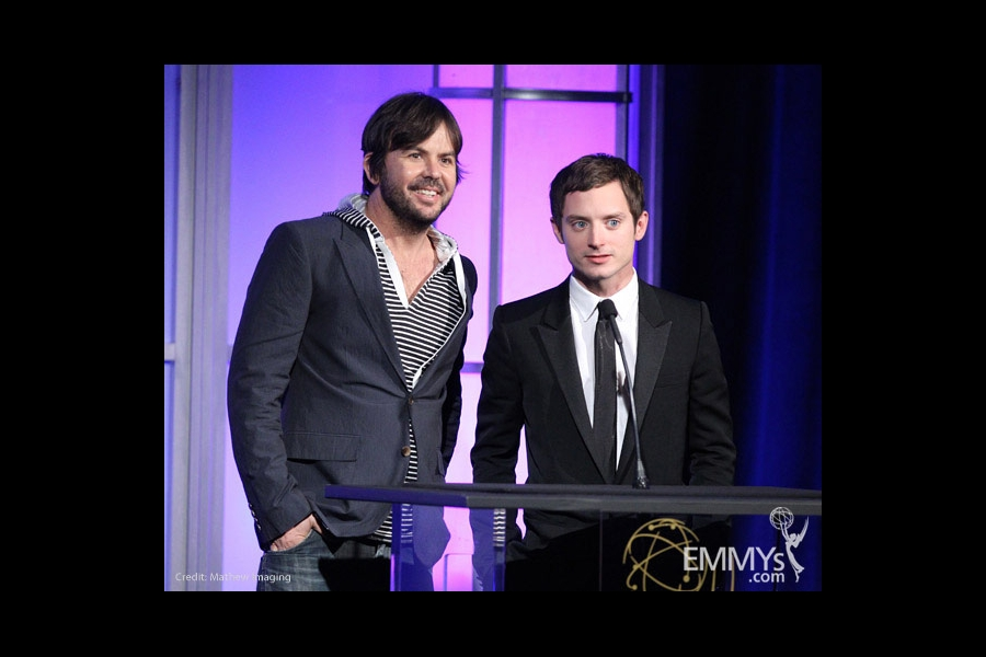 Jason Gann & Elijah Wood at the 32nd College Television Awards