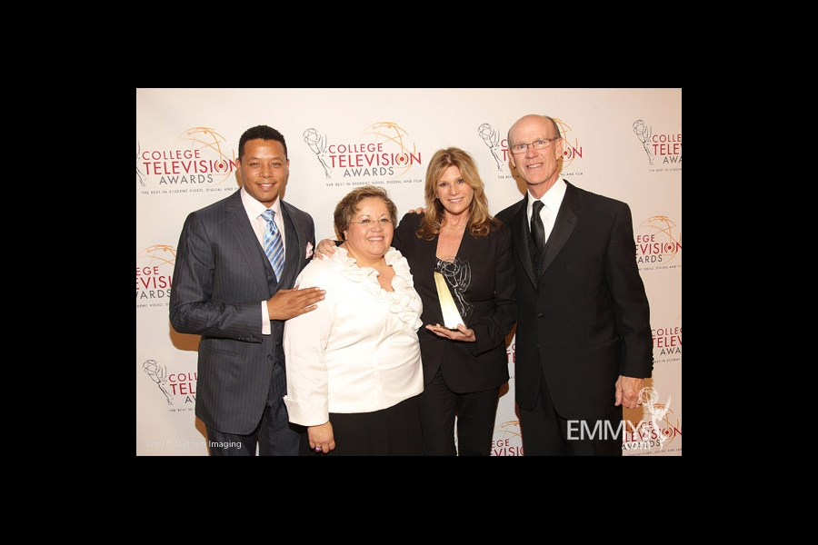 Terrence Howard, Norma Provencio Pichardo, Lisa Paulsen & Jerry Petry at the 32nd College Television Awards
