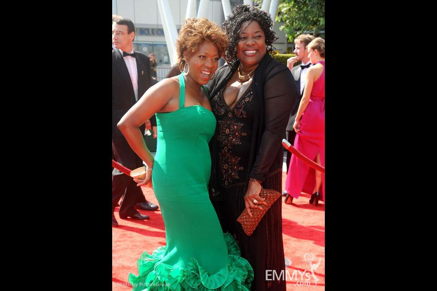 Alfre Woodard and Loretta Devine attends the Academy of Television Arts and Sciences 2011 Primetime Creative Arts Emmys