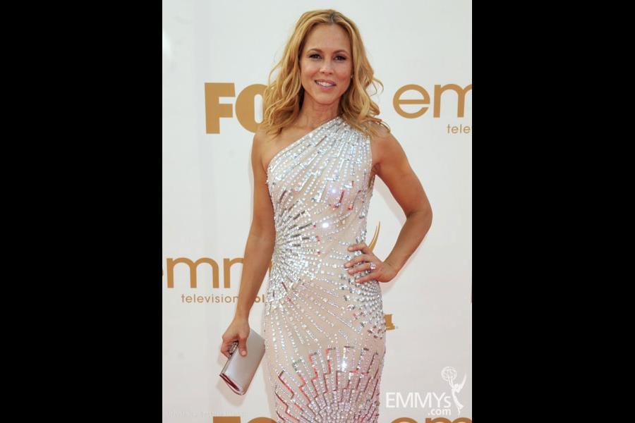 Maria Bello arrives at the Academy of Television Arts & Sciences 63rd Primetime Emmy Awards
