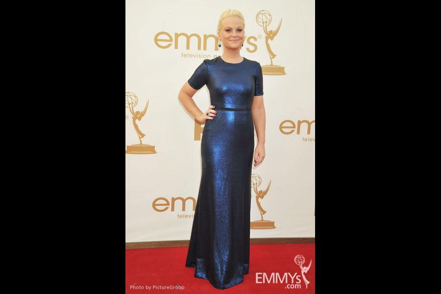 Amy Poehler arrives at the Academy of Television Arts & Sciences 63rd Primetime Emmy Awards at Nokia Theatre L.A. Live