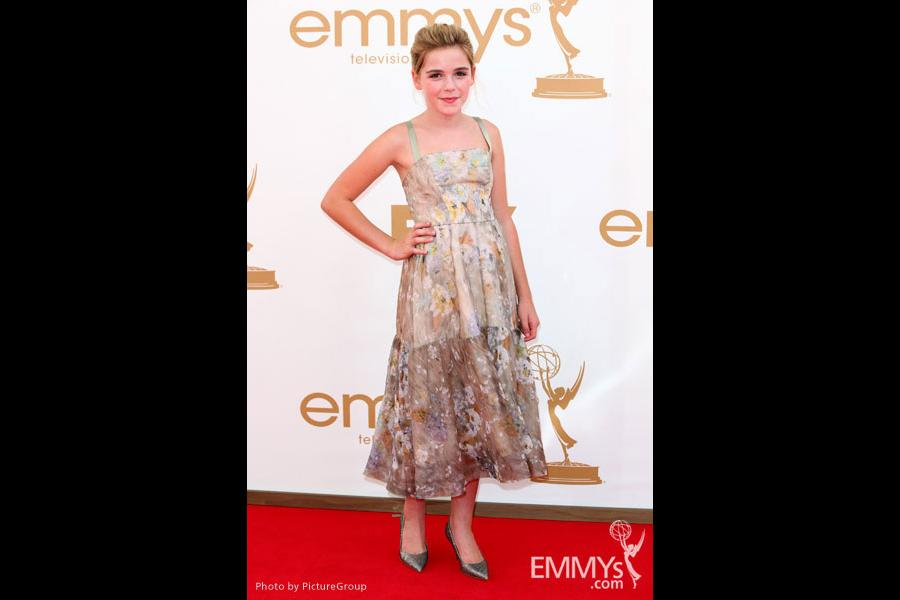 Kiernan Shipka arrives at the Academy of Television Arts & Sciences 63rd Primetime Emmy Awards at Nokia Theatre L.A. Live