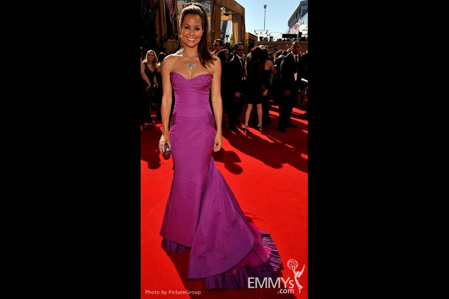 Brooke Burke arrives at the Academy of Television Arts & Sciences 63rd Primetime Emmy Awards at Nokia Theatre L.A. Live