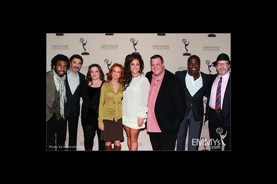Melissa McCarthy, Swoosie Kurtz, Billy Gardell, Nyambi Nyambi, Chuck Lorre, Katy Mixon, Reno Wilson and Mark Roberts