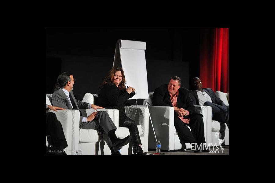 Melissa McCarthy, Billy Gardell, Reno Wilson and Don Foster participate in an Evening with Mike & Molly