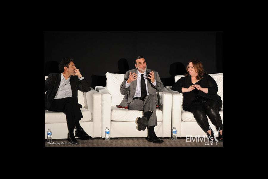 Melissa McCarthy, Chuck Lorre and Don Foster participate in an Evening with Mike & Molly
