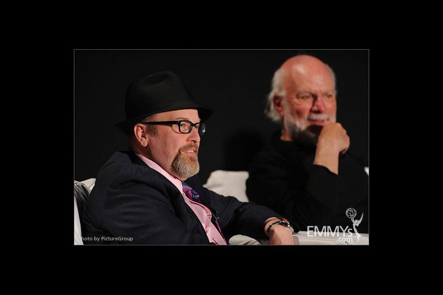Mark Roberts and James Burrows participate in an Evening with Mike & Molly