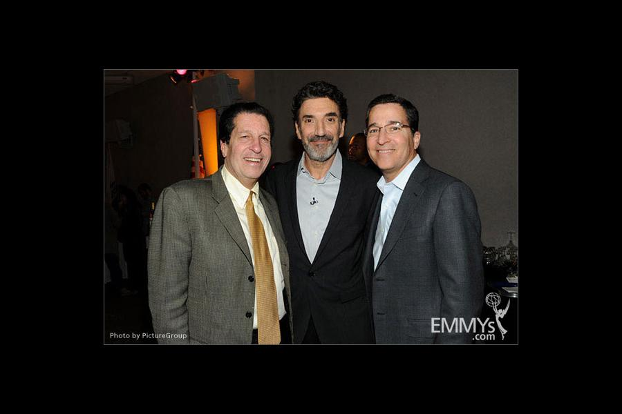 Chuck Lorre, Bruce Rosenblum and Peter Roth attend an Evening with Mike & Molly