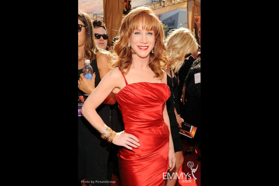 Kathy Griffin arrives at the Academy of Television Arts & Sciences 63rd Primetime Emmy Awards at Nokia Theatre L.A. Live