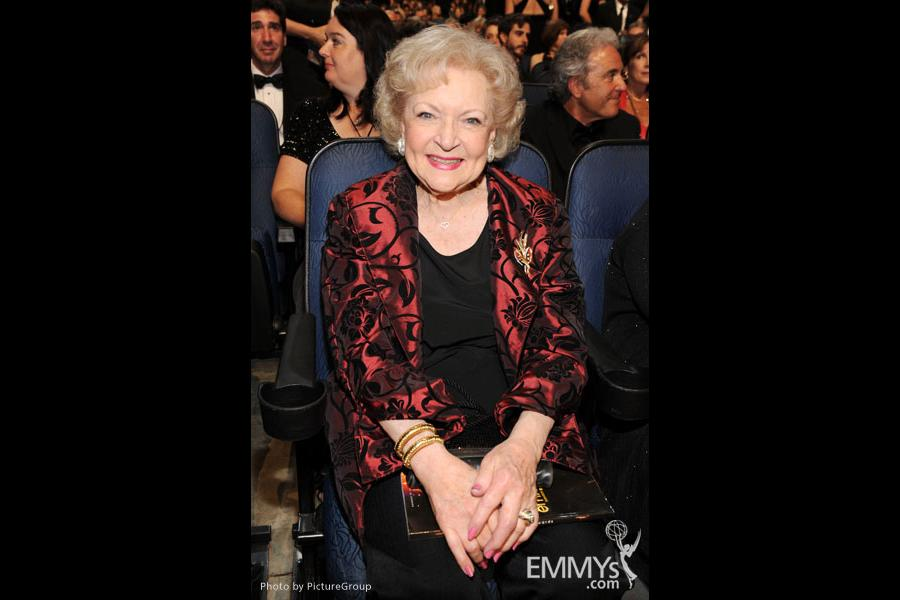 Betty White in the audience during the Academy of Television Arts & Sciences 63rd Primetime Emmy Awards
