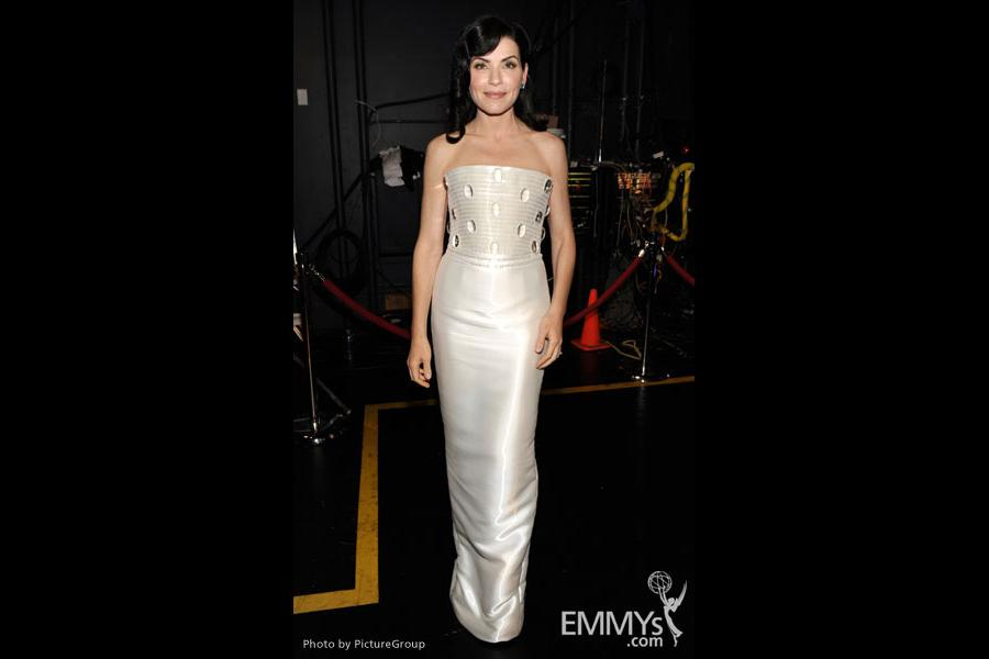 Julianna Margulies backstage at the Academy of Television Arts & Sciences 63rd Primetime Emmy Awards at Nokia Theatre L.A. Live