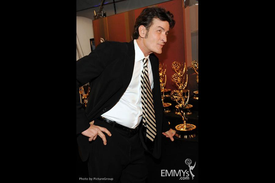 Charlie Sheen at the Academy of Television Arts & Sciences 63rd Primetime Emmy Awards at Nokia Theatre L.A. Live