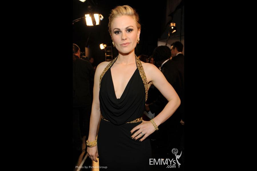 Anna Paquin backstage during the Academy of Television Arts & Sciences 63rd Primetime Emmy Awards at Nokia Theatre L.A. Live
