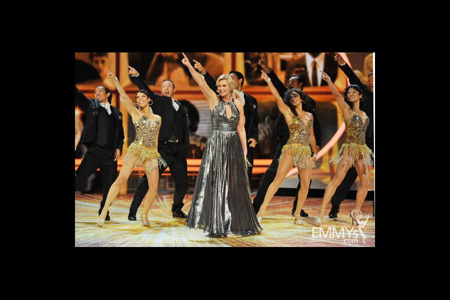 Jane Lynch onstage at the Academy of Television Arts & Sciences 63rd Primetime Emmy Awards at Nokia Theatre L.A. Live