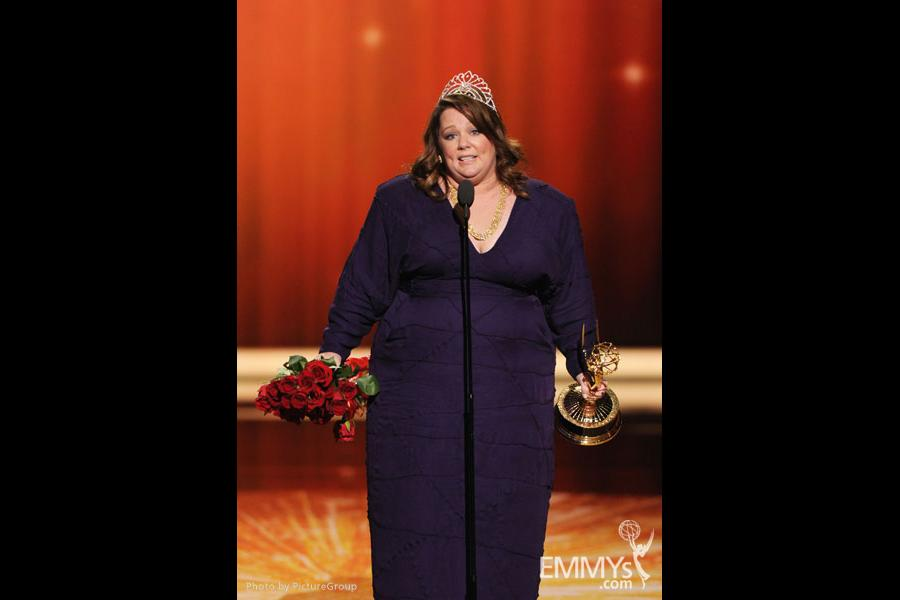 Melissa McCarthy onstage at the Academy of Television Arts & Sciences 63rd Primetime Emmy Awards at Nokia Theatre L.A. Live