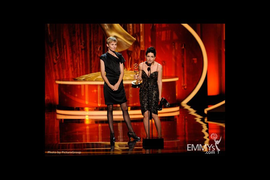 """Boardwalk Empire"" Makeup Team Accepting Award at the Academy of Television Arts and Sciences 2011 Primetime Creative Arts Emmys"