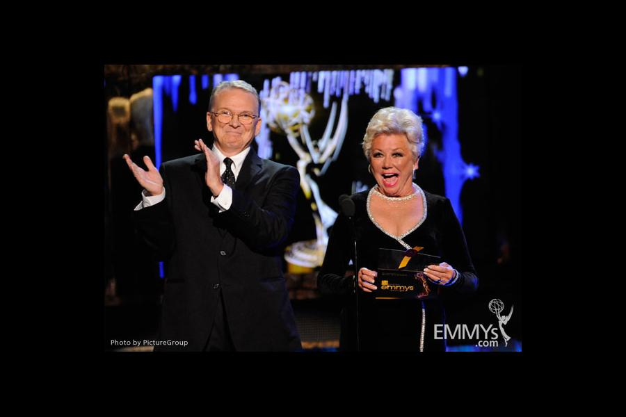 Bob Mackie and Mitzi Gaynor presenting at the Academy of Television Arts and Sciences 2011 Primetime Creative Arts Emmys