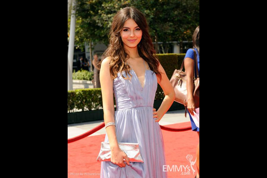 Victoria Justice attends the Academy of Television Arts and Sciences 2011 Primetime Creative Arts Emmys