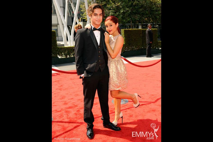 Avan Jogia and Ariana Grande attend the Academy of Television Arts and Sciences 2011 Primetime Creative Arts Emmys