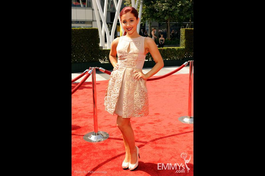 Ariana Grande attends the Academy of Television Arts and Sciences 2011 Primetime Creative Arts Emmys