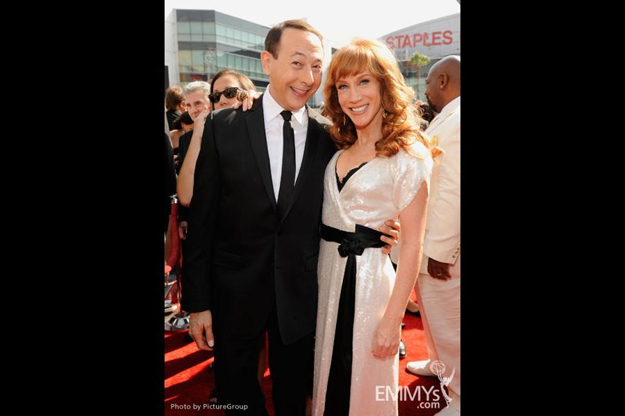 Paul Reubens and Kathy Griffin attend the Academy of Television Arts and Sciences 2011 Primetime Creative Arts Emmys