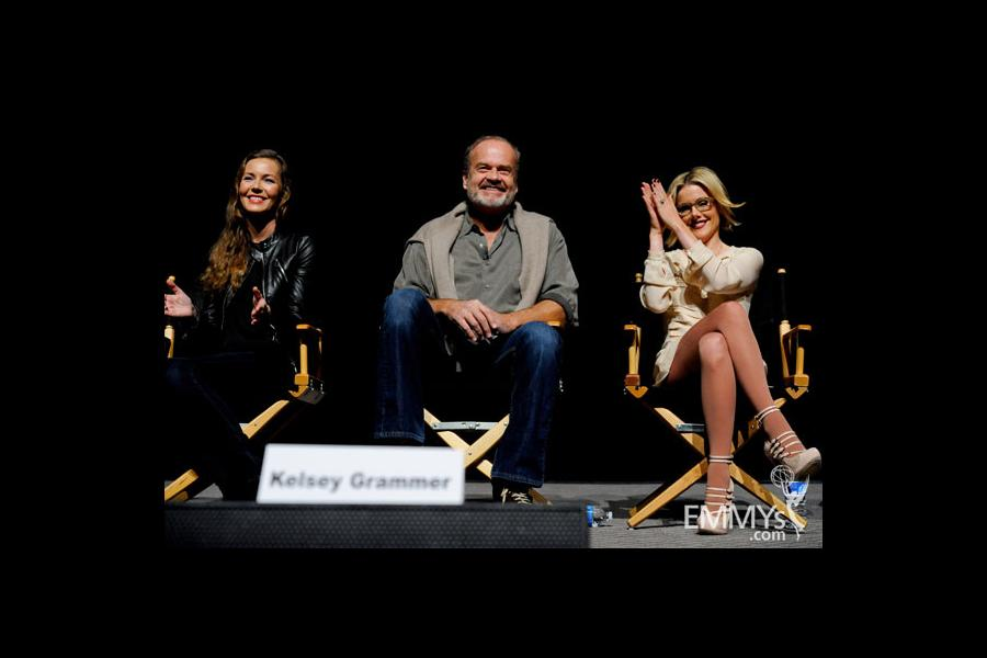 Connie Nielsen, Kelsey Grammer and Kathleen Robertson at An Evening With Boss